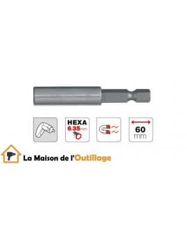 Tivoly 11501320001 - Porte embout magnétique Tivoly 60 mm