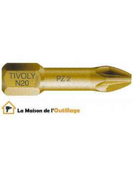 Tivoly 11522220001 - Embouts Tivoly extra dur torsion N1-2-3 Pozidriv 25mm