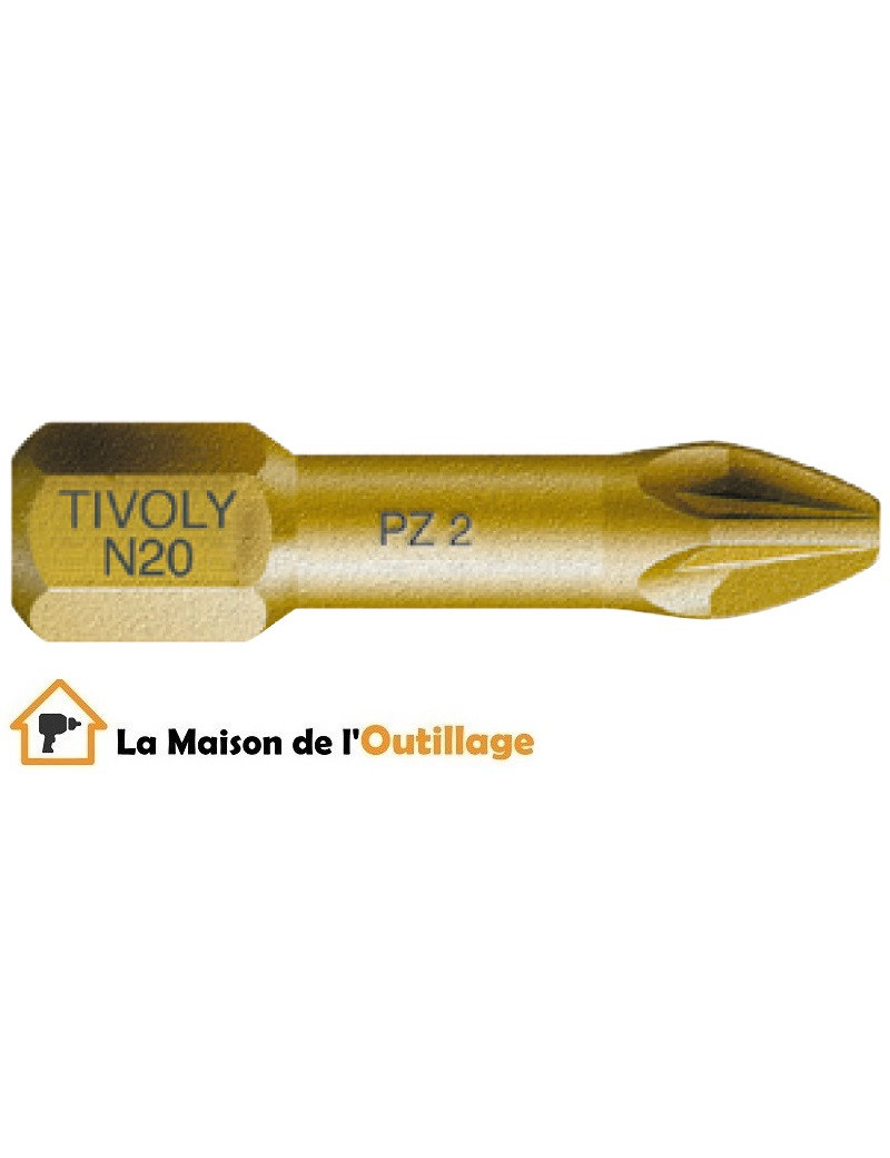 Tivoly 11522260200 - Embouts vissage Tivoly extra dur torsion N2 25mm