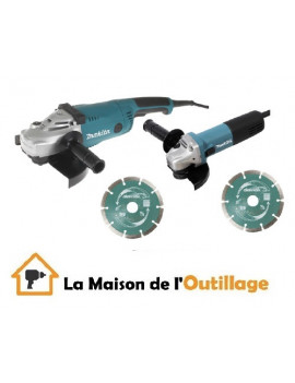 Lot de 2 meuleuses disqueuses Makita 125 - 230mm - LOT0032-P