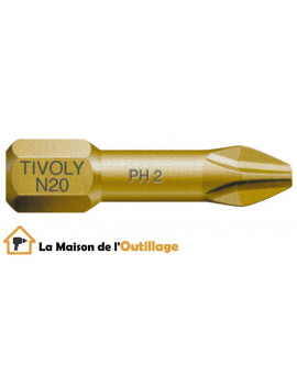 Tivoly 11522320200 - Embout Tivoly extra dur torsion N2 Philips 25mm