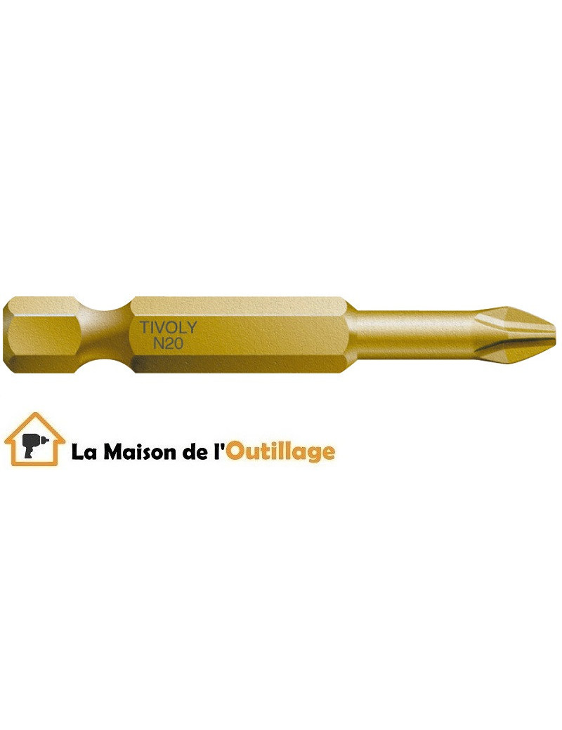 Tivoly 11522820200 - Embout Tivoly extra dur torsion N2 50mm
