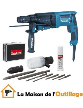 Makita HR2630TX4 - Perforateur burineur Makita 800W SDS-Plus
