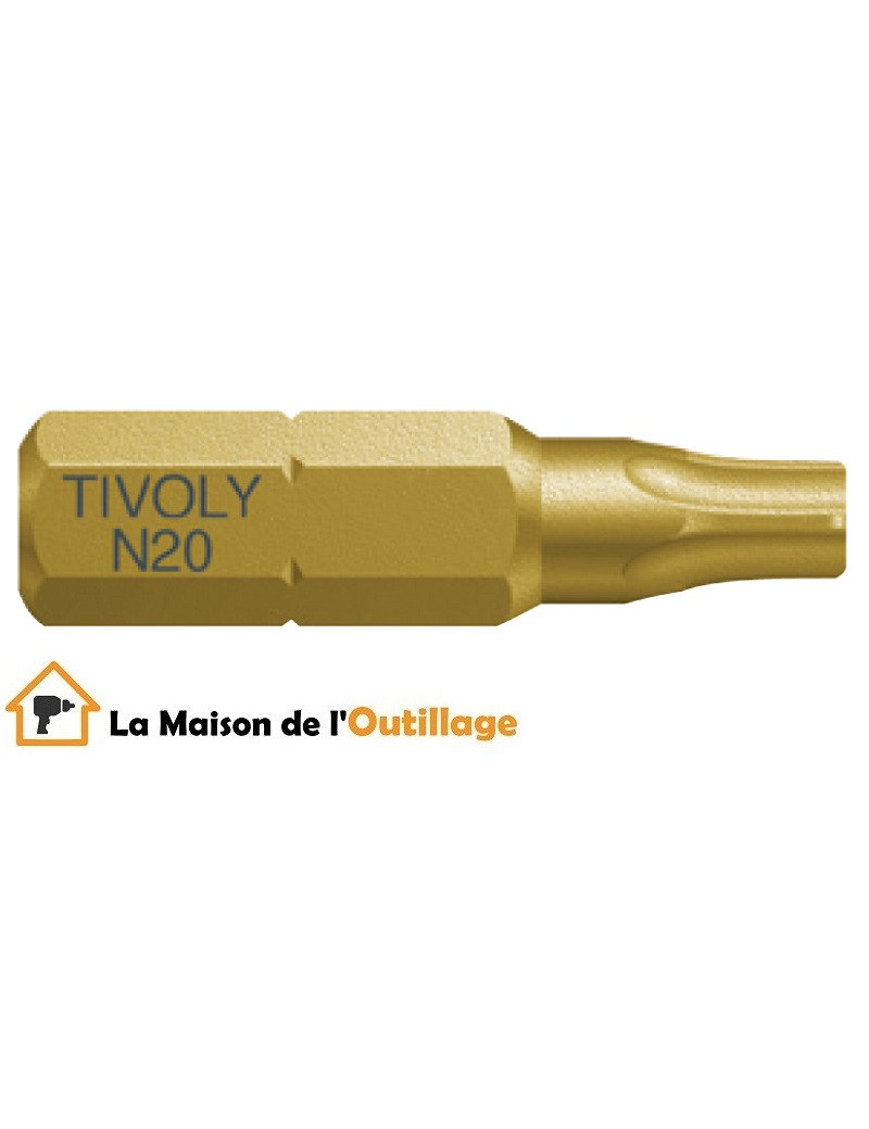 Tivoly 11522521000 - Embout Tivoly extra dur torsion N10 25mm