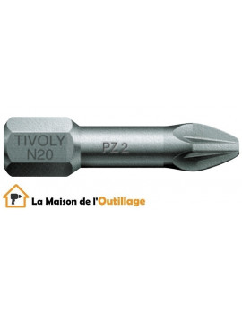 Tivoly 11520220001 - Embouts Tivoly torsion N1-2-3 Pozidriv 25mm
