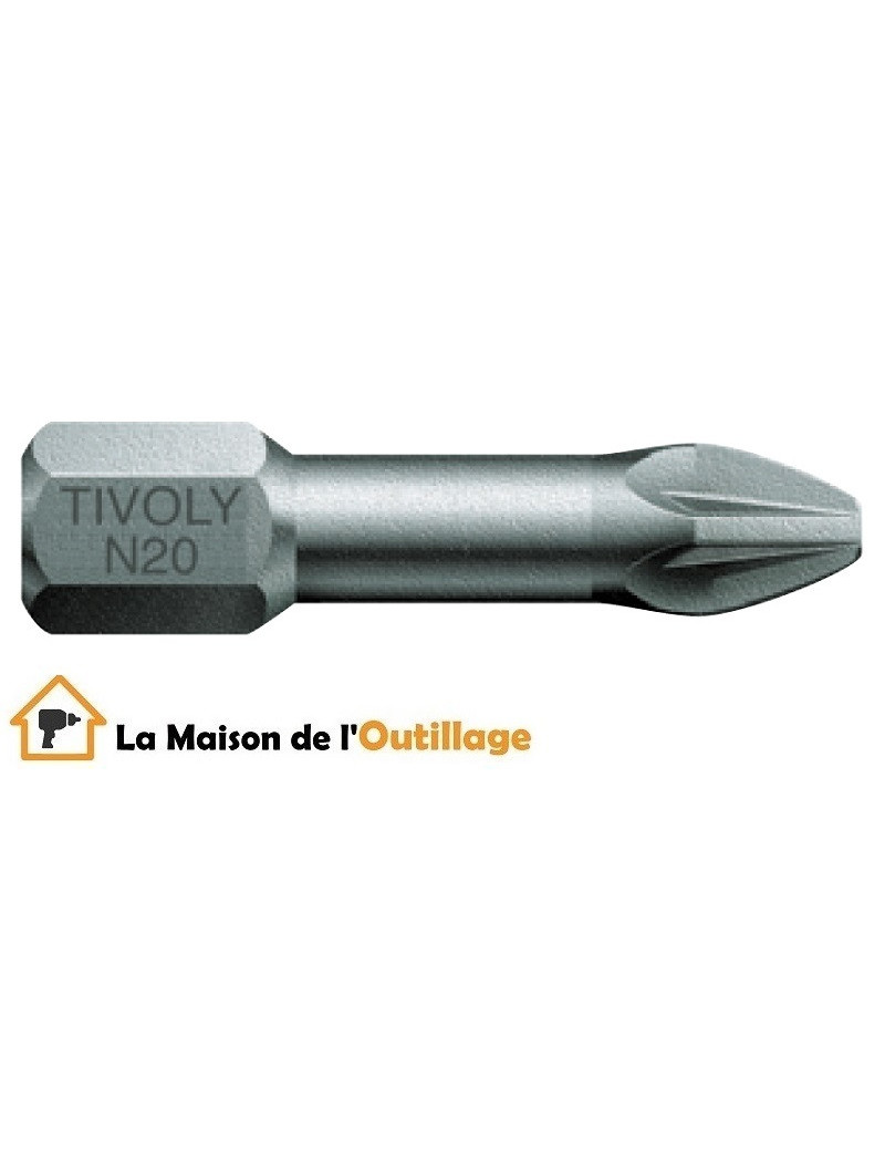Tivoly 11520320100 - Embouts Tivoly torsion N1 25mm