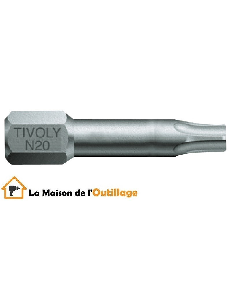 Tivoly 11520522500 - Embout Tivoly torsion N25 25mm