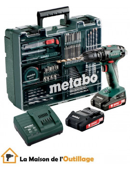 Metabo SB 18 Set - Perceuse à percussion Metabo 18V 2Ah Li-Ion