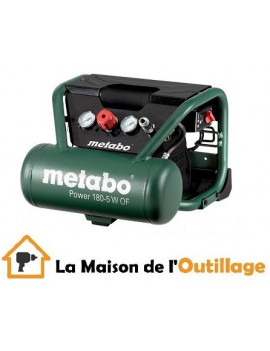 Metabo Power 180-5 W OF - Compresseur Metabo Power 5 litres