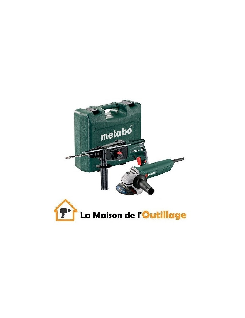 Metabo 690929000 - Pack Metabo perforateur KHE 2444 +meuleuse W750-125