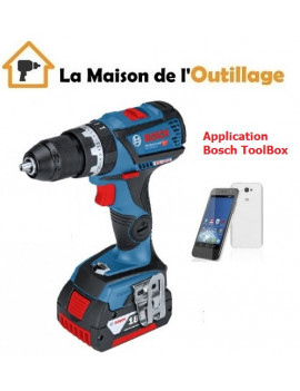 Perceuse visseuse a percussion Bosch 18V + 2x 5Ah